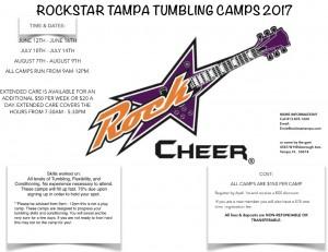 Tampa Tumbling Camps