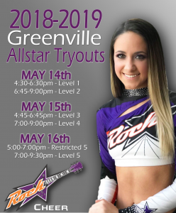 Greenville Tryouts 2018